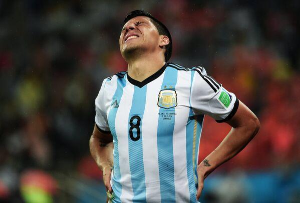 Полузащитник сборной Аргентины Энцо Перес.
