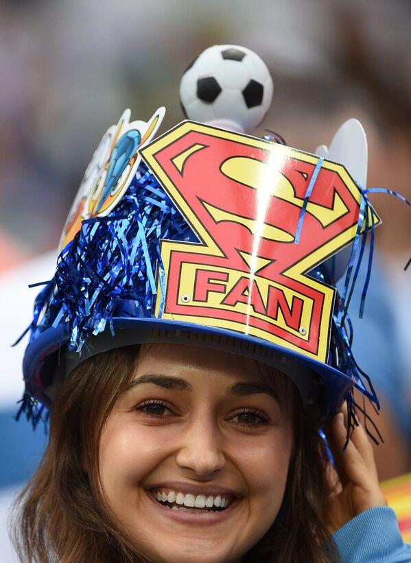 Болельщица сборной Аргентины.