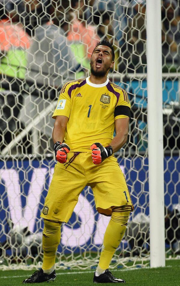 Вратарь сборной Аргентины Серхио Ромеро.