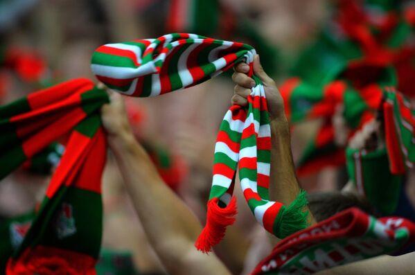 Болельщики в матче 6-го тура чемпионата России по футболу