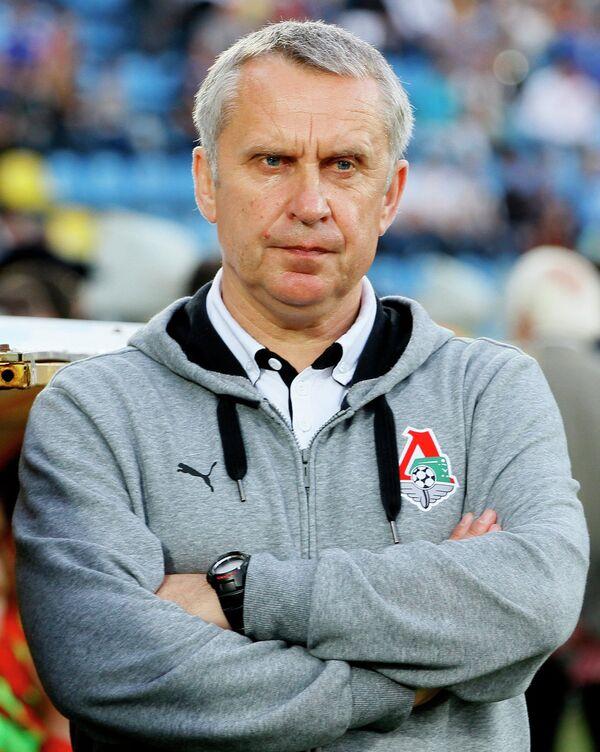 Главный тренер Локомотива Леонид Кучук