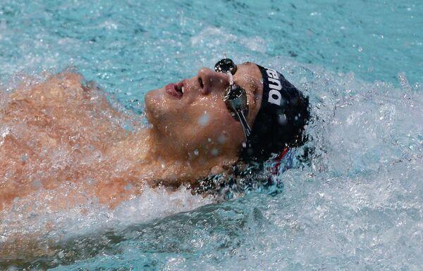 Вячеслав Прудников (Россия) на дистанции 100 метров комплексным плаванием
