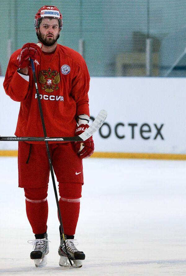 Игрок сборной России по хоккею Александр Радулов.