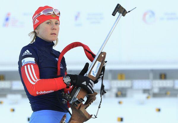 Российская биатлонистка Яна Романова