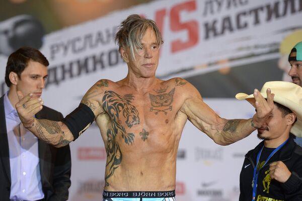 Американский актер и боксер Микки Рурк
