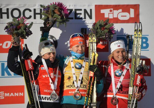 Карин Оберхофер, Кайса Мякяряйнен и Тириль Экхофф (слева направо)