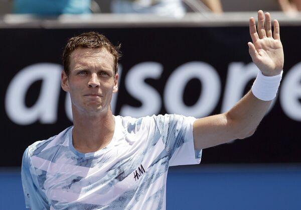 Томаш Бердых во втором круге Australian Open