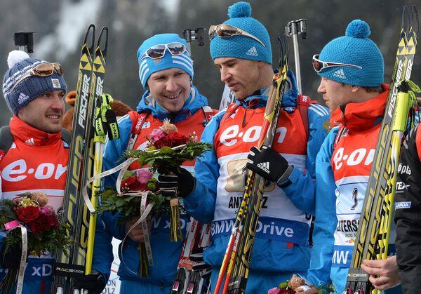 Евгений Гараничев,Тимофей Лапшин, Дмитрий Малышко, Алексей Волков (слева направо)