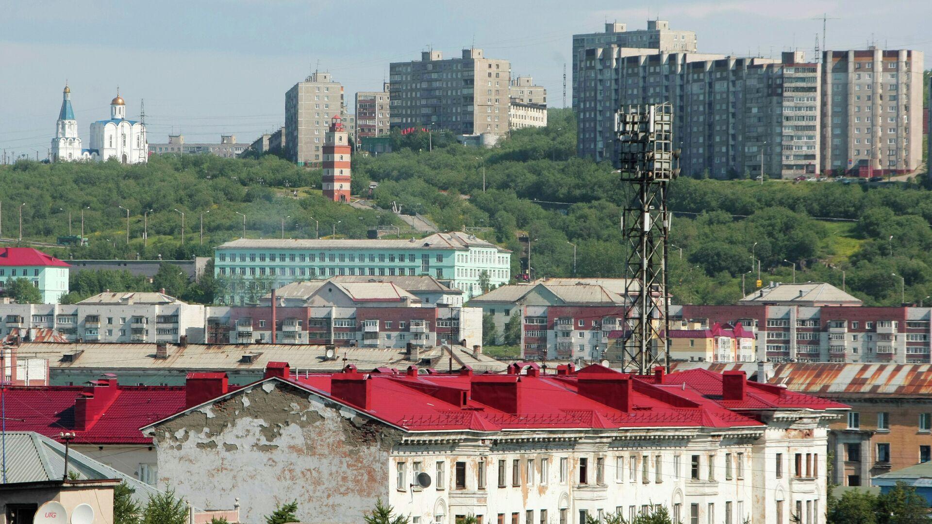 Вид города Мурманска со стороны порта - РИА Новости, 1920, 02.10.2020