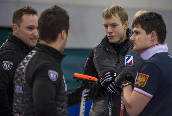 Антон Калалб, Артур Ражабов, Евгений Архипов, Александр Козырев (слева направо)