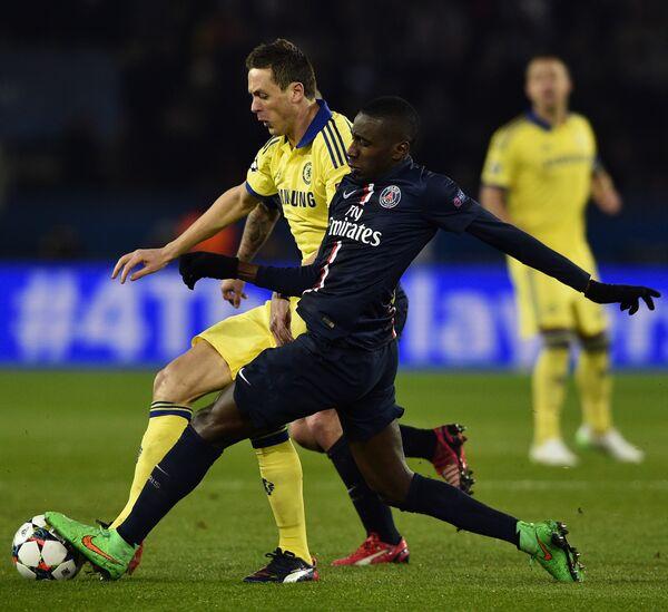 Игровой момент матча Пари Сен-Жермен - Челси