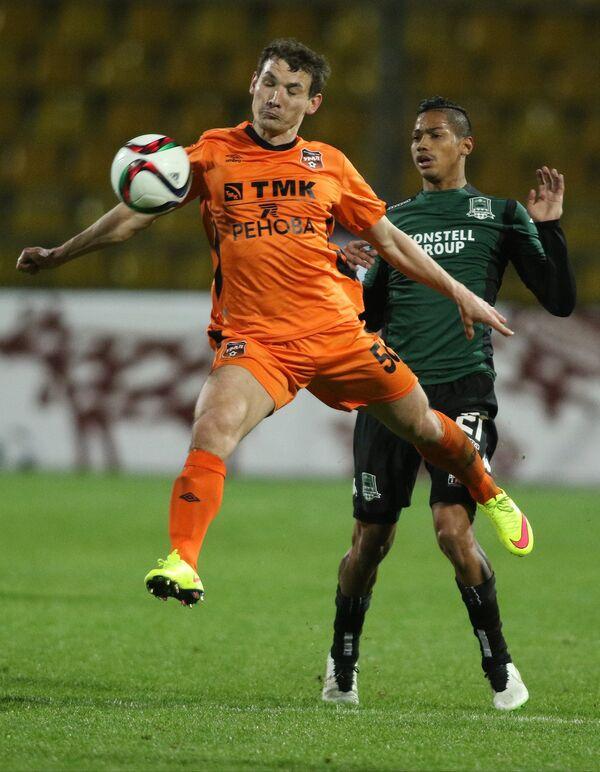 Игровой момент матча Краснодар - Урал