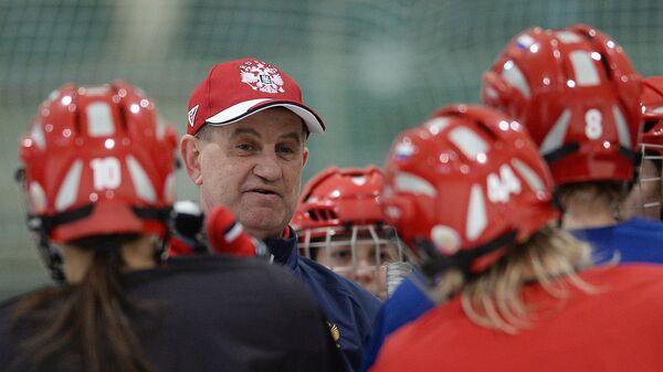 Михаил Чеканов на тренировке