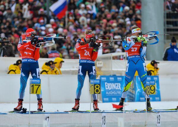 Слева направо: Алексей Слепов (Россия), Алексей Волков (Россия), Каури Кыйв (Эстония)