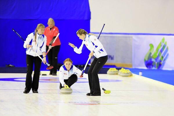 Керлингистки сборной России на Сурдлимпиаде