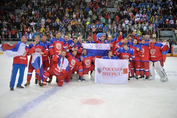 Хоккеисты сборной России на Сурдлимпиаде