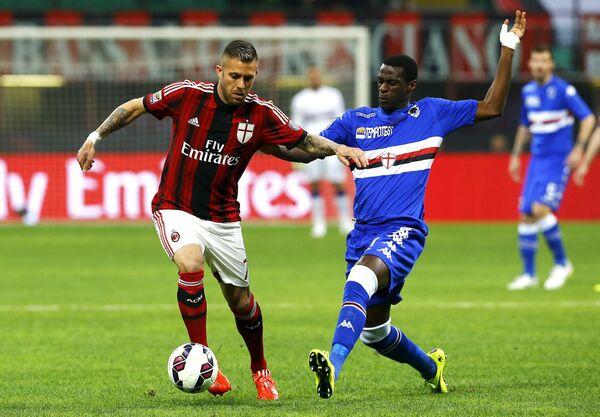 Игровой момент матча Милан - Сампдория