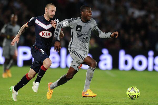 Игровой момент матча Бордо - Марсель