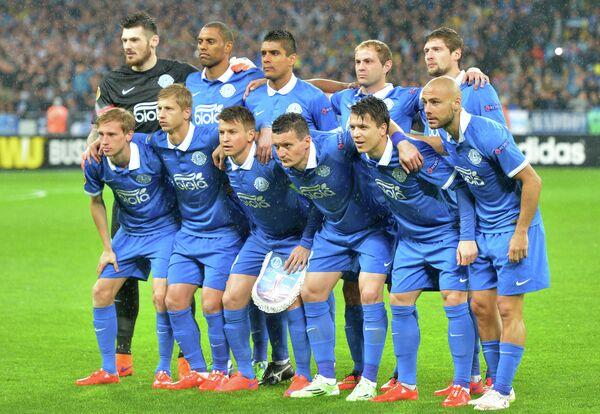 Футболисты украинского клуба Днепр