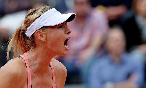 Мария Шарапова на теннисном турнире в Риме