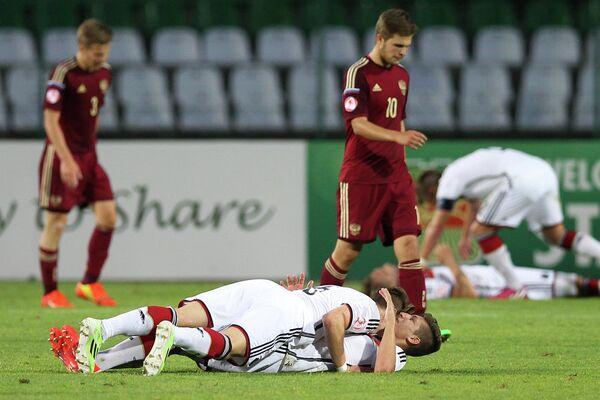 Полузащитник юношеской сборной России по футболу Борис Цыганков (№10)