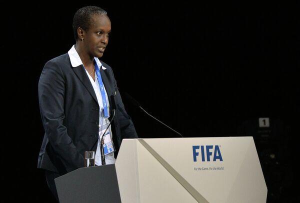 Президент Футбольной ассоциации Бурунди Лидия Нсекера