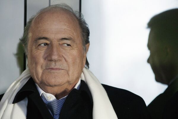 Президент ФИФА Йозеф Блаттер на торжественной презентации Дома футбола