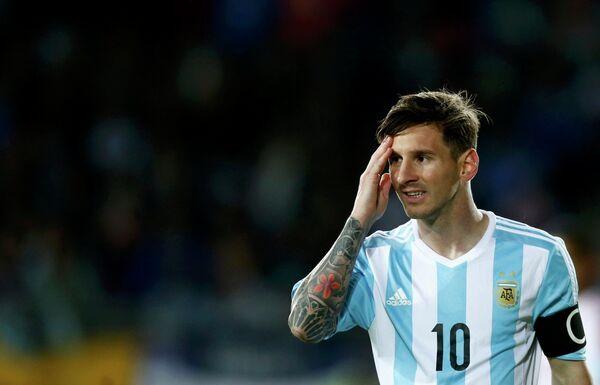 Нападающий сборной Аргентины по футболу Лионель Месси