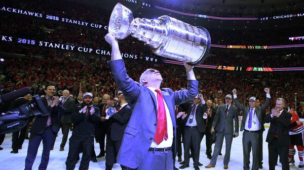 Главный тренер хоккейного клуба «Чикаго» Джоэль Кенневилль