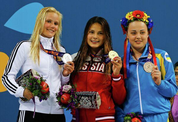 Луиза Ставчински, Мария Полякова и Диана Шелестюк (слева направо)