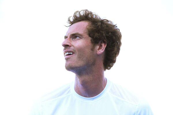 Энди Маррей на теннисном турнире в Лондоне