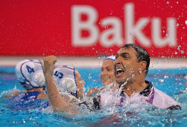 Главный тренер женской сборной России по водному поло Андрей Белофастов