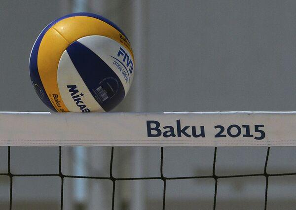 Матч женского турнира по пляжному волейболу