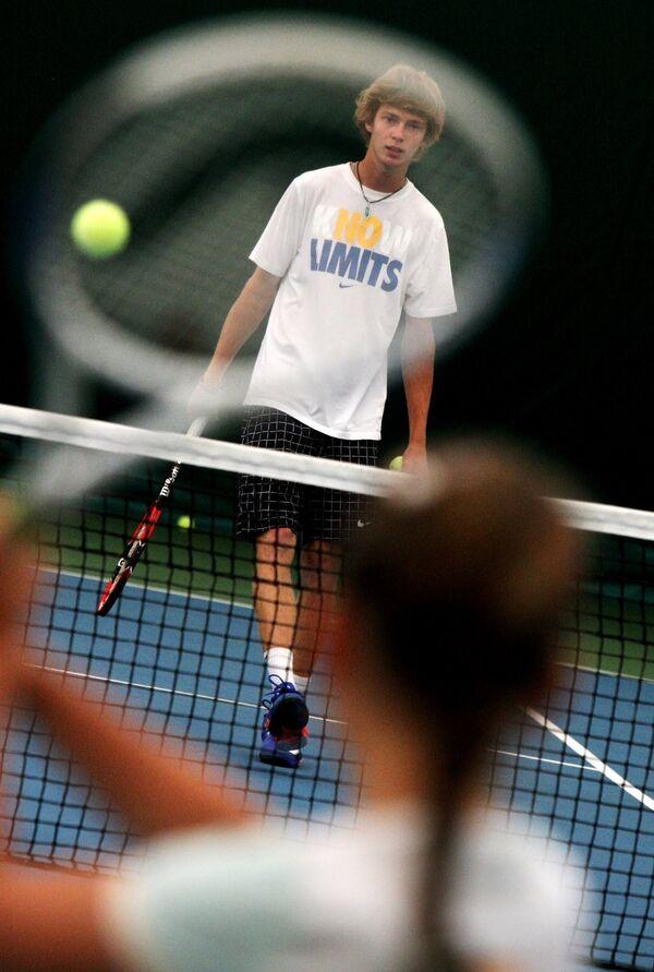 Теннисист сборной России Андрей Рублев