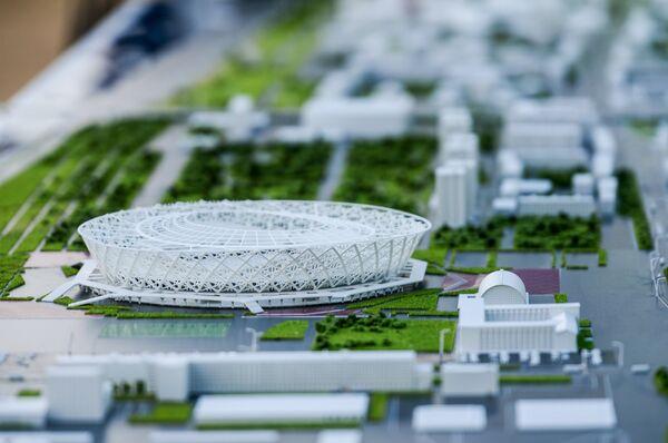 Макет стадиона Победа в Волгограде