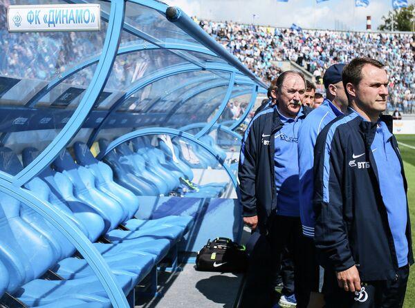 Главный тренер Динамо Андрей Кобелев (справа)