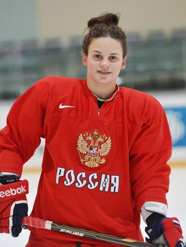 Нападающая сборной России по хоккею Людмила Белякова