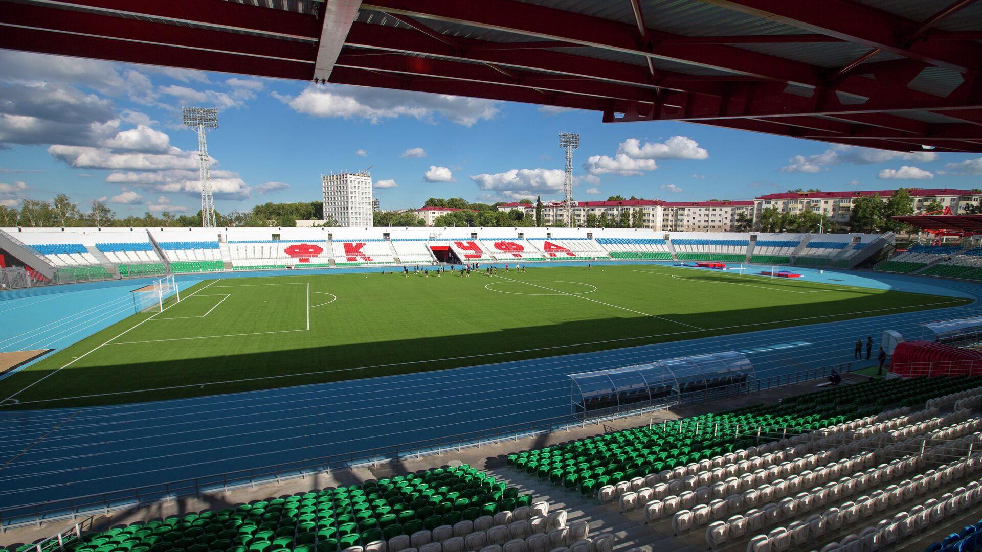 Подготовка к открытию стадиона Нефтяник в Уфе - РИА Новости, 1920, 01.06.2021