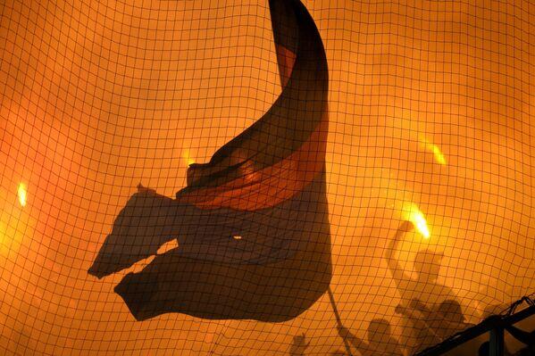 Болельщики во время матча 5-го тура чемпионата России по футболу среди клубов Премьер-лиги между ФК Спартак (Москва) и ФК ЦСКА (Москва)
