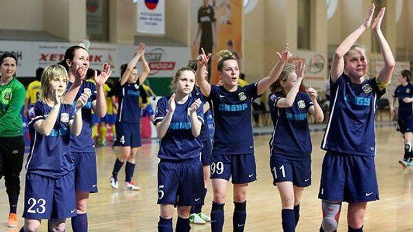 Игроки женского мини-футбольного клуба Тюмень