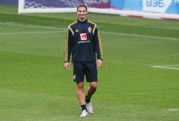 Нападающий сборной Швеции по футболу Златан Ибрагимович
