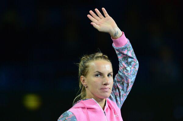 Победительница теннисного турнира Кубок Кремля - 2015 в женском одиночном разряде Светлана Кузнецова