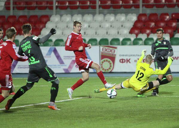 Игровой момент матча Уфа - СКА-Энергия