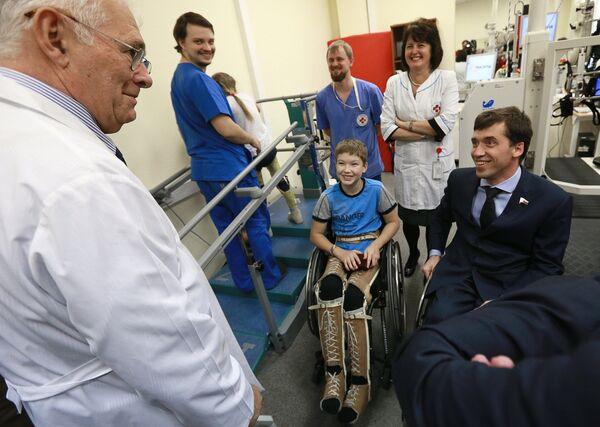 Миша Терентьев (в центре), Михаил Терентьев (справа), Леонид Рошаль (слева)