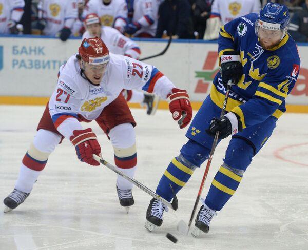 Форвард сборной России по хоккею Игорь Григоренко