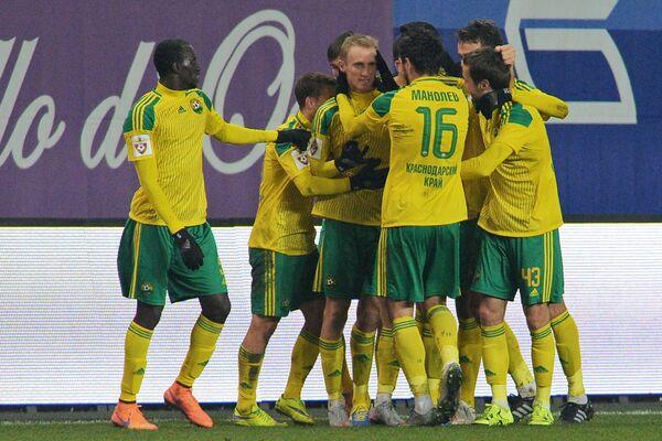Игроки Кубани радуются забитому голу