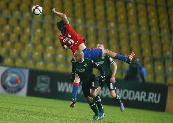 Игровой момент матча Краснодар - ЦСКА