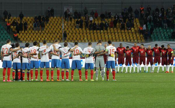 Игроки сборных России и Португалии