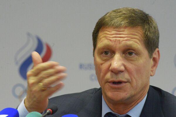 Переизбранный президентом Олимпийского комитета России Александр Жуков