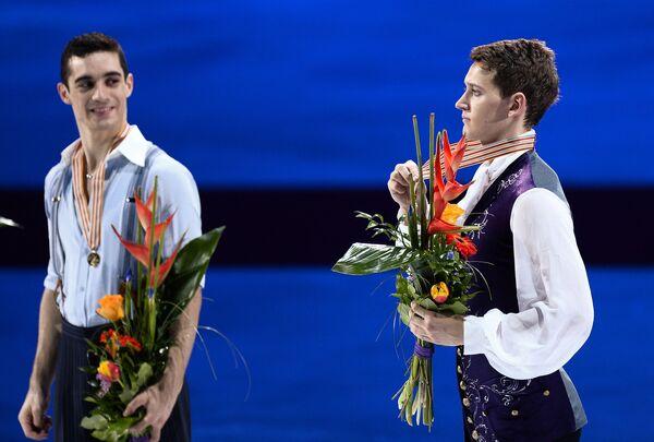 Хавьер Фернандес (Испания) и Максим Ковтун (Россия) (слева направо)